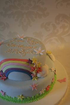 one of my christening cakes
