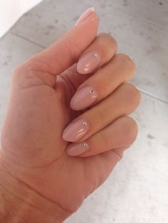 NANCY crafted the perfect short almond shape and MICHELLE glued the rhinestones on - Yelp Almond Gel Nails, Short Almond Nails, Short Nails, Yellow Nail Polish, Yellow Nails, Bright Nails, Black Nails, Pink Nails, Love Nails