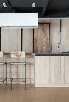 Novy Zen in a kitchen project by Dirk Cousaert Loft Interiors, Zen, Kitchen Dining, Dining Rooms, Modern House Design, Kitchen Interior, Furniture Design, Kitchens, Interior Design
