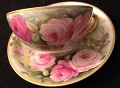 Limoges Hand Painted  Cup and Saucer
