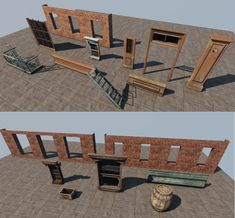 How u model dem Modular Buildings? Hands-on mini-tuts current gen modular buildings - Polycount Forum