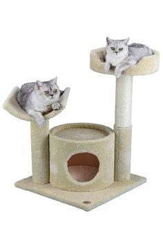 Brown Go Pet Club IQ Busy Box 73.5 in 73.5 Cat Tree