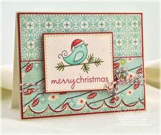 Merry Christmas card by Debbie Olson for Papertrey Ink (October 2011).
