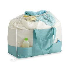 A big laundry bag you can actually take to the laundromat, complete with handy side pockets.