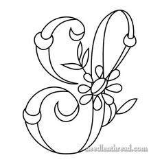 Monogram for Hand Embroidery - the Letter 'S' via the fabulous Mary Corbet