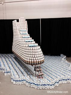 CANstruction:  Ice-Skate - in Indianapolis, Indiana