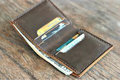 Credit Card Wallet with Cash Pocket --- USA Currency ONLY - JooJoobs Original Design [040]