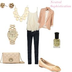 """""""Neutral Sophistication"""" by acgarrity94 on Polyvore"""
