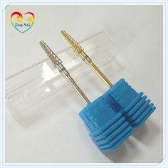"1pcs 2colors ProMedium Tungsten Carbide Nail Drill Bit 3/32"" Rotate Burr Bits For Manicure Nail Drill Accessories Milling Cutter"