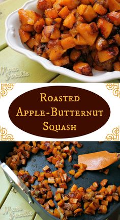 Roasted Apple Butternut Squash - simple, clean and delicious