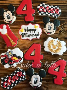 Mickey Mouse Birthday Decorations, Mickey Mouse Clubhouse Birthday, Mickey Mouse Parties, Mickey Birthday, Mickey Party, Boys 1st Birthday Party Ideas, Race Car Birthday, Cars Birthday Parties, 3rd Birthday