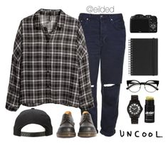 """""""Uncool"""" by eilded ❤ liked on Polyvore featuring CO, Topshop, H&M, Dr. Martens, Muji, Ladyboy, Marc by Marc Jacobs and vintage"""