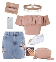 Untitled #141 by princessnefertari on Polyvore featuring polyvore, fashion, style, Miss Selfridge, Topshop, Puma, MICHAEL Michael Kors, ETUÍ and clothing