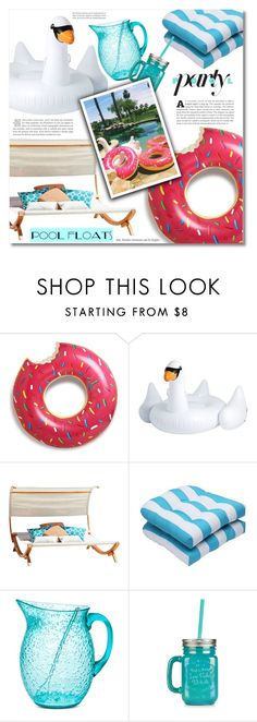"""Fun in the Sun: Pool Floats"" by dolly-valkyrie ❤ liked on Polyvore featuring interior, interiors, interior design, home, home decor, interior decorating, Pillow Perfect, New Look and poolfloats"