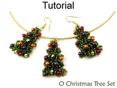 kit tree earrings supplies earring jewelry christmas