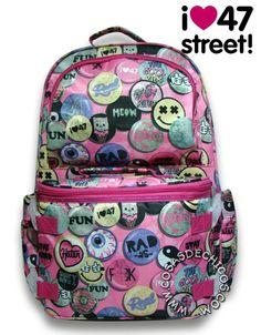 019c21b3f #Mochila @47street Grande C/ Bolso Desmontable @47St #Original  #BackToSchool. CosasDeChicos.com · 47 Street