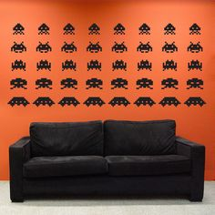 Space Invaders Wall Decal Sticker...totally perfect for a Bachelor Pad or teenage boy's room
