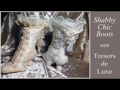 Vintage Style Fabric Boot Tutorial - Part 2 - YouTube