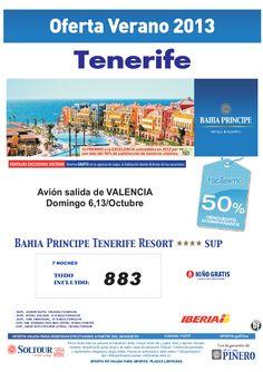 TENERIFE, 50% Bahia Principe Tenerife Resort, salidas 6 y 13 Octubre desde Valencia - http://zocotours.com/tenerife-50-bahia-principe-tenerife-resort-salidas-6-y-13-octubre-desde-valencia/