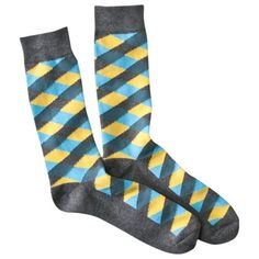 Mossimo Supply Co. Men's 1PK Diamonds Sock