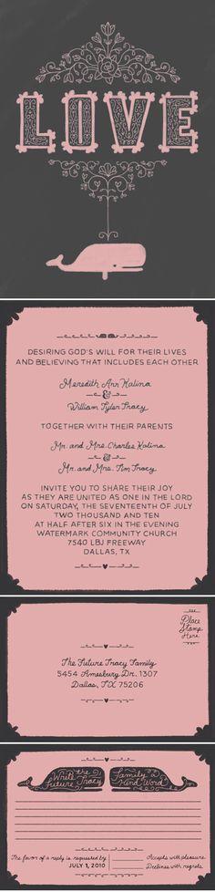 Cute Invite: pink & brown