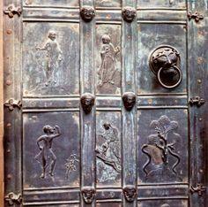 Panels of a door, 1050s, Bronze; Cathedral, Augsburg