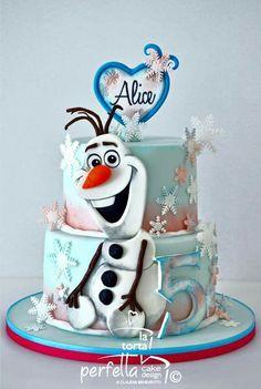 Bolo Frozen, Tarta Frozen Disney, Torte Frozen, Olaf Frozen Cake, Elsa Torte, Olaf Cake, Frozen Theme Cake, Frozen Birthday Cake, Disney Cakes