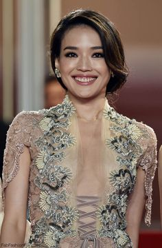 """Taiwanese actress Shu Qi at the Premiere of """"Nie Yinniang"""" (The Assassin) at the 2015 Cannes Film Festival. #cannes #shuqi"""
