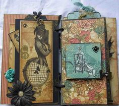 So freaking cool!!! I can almost smell the scent of the old paper. #Isthatweird Steampunk Scrapbook