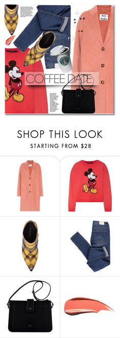 """""""Buzz-Worthy: Coffee Date"""" by svijetlana ❤ liked on Polyvore featuring Acne Studios, Marc Jacobs, Jeffrey Campbell, Cheap Monday and CoffeeDate"""