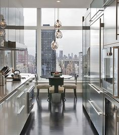 15 Eye-Opening Breakfast Nooks contemporary-dining-room-new-york-city-ny-by-champeau-wilde copy New York Apartments, New York City Apartment, Dream Apartment, Luxury Apartments, City Apartment Decor, Chicago Apartment, Apartment Goals, Manhattan Apartment, New York Homes
