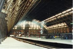 St.Pancras Station, London. 13-07-1996. A view of the train shed.