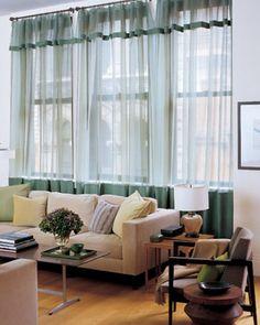 Linen Trim Curtain Embellishments