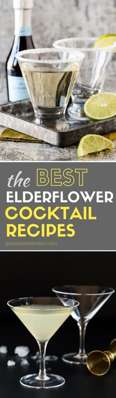 Ever wondered what you can make with elderflower liqueur? We've got an all-things elderflower liqueur post, including what it is, how to use it and some of the BEST Elderflower cocktails around! #elderflower #elderflowerliqueur #cocktails #drinks