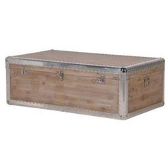 Silver Trim Trunk Coffee Table