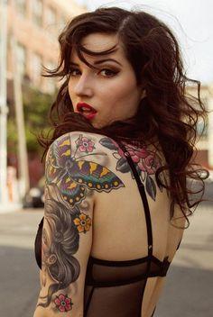 Butterfly tattoo Girl