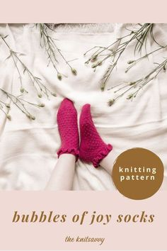 Are you in mood for the most joyful socks in your drawer? This knitting pattern will help you to create your own socks in all-over bubble pattern, finished with adorable ruffle around cuff. These are knitted with fingering weight yarn and are pure joy to knit! Knitting Projects, Crochet Projects, Knitting Patterns, Sock Bubbles, Frilly Socks, Diy Craft Projects, Crafts, Knitting Accessories, Sock Yarn