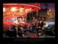 Legendary Crossroads Kunstdruk