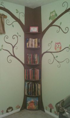Bedroom Corner Bookcase