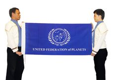 Star Trek UFP Flag Prop United Federation of Planets | eBay