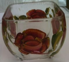 Four Sided Glass Bowl – Legend Series Hand Painted Glass Ware and Home Decor