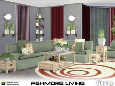 Created By mutske Ashmore Living Created for: The Sims 4 Create your own comfort sofa with this modular modern set. You can easely mix and match the pillows. You can also use them on other chairs and...