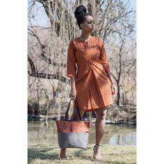 Orange Shirt dress, African shirt, African dress for women, elephant fabric dress for African women African Print Shirt, African Shirts, African Print Dresses, African Fashion Dresses, African Dress, Ankara Fashion, African Fabric, African Attire, African Wear