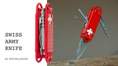 Awesome Swiss army knife made from LEGO bricks.