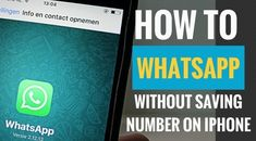 For short time WhatsApp interaction, you might not want to save the number in your contact list. You can WhatsApp without saving the number with this neat little trick. Contact List, Instant Messaging, You Can Do, Numbers, Messages, Iphone, Text Posts, Text Conversations