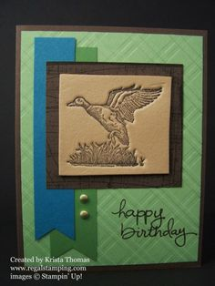 Faux Leather Technique using Fun Foam by Krista Thomas, Stampin' Up! The Wilderness Awaits www.regalstamping.com