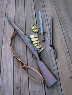 A classic bolt-action rifle chambered in the and it's variants served in the U.S military from World War I up until the Vietnam War. Replaced by the more familiar Garand, the series served as a very capable sniper rifle. M1 Garand, Ww2 Weapons, Battle Rifle, Bolt Action Rifle, Custom Guns, Hunting Rifles, Cool Guns, Military Weapons, Guns And Ammo