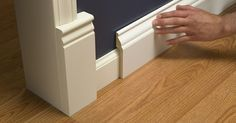 A Stroll Thru Life: Install Wide Baseboard Molding Over Existing Narrow Baseboard