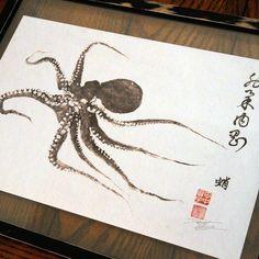 Gentle Calligraphy Print 18x12 by Fishing For Gyotaku | Fab.com