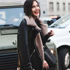 The shearling jacket